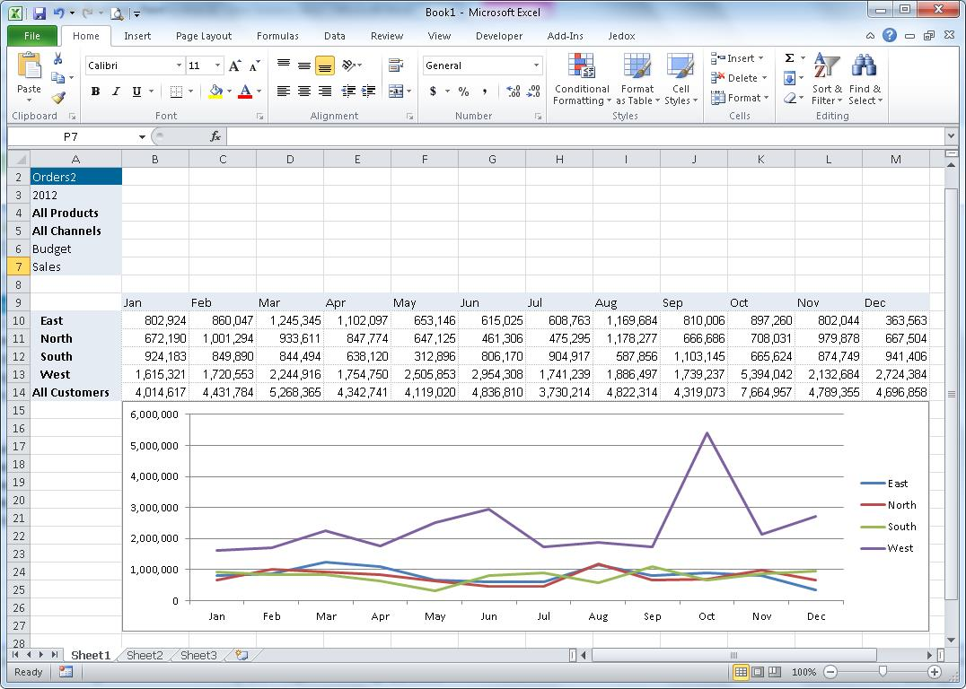 Jedox Excel Add-In
